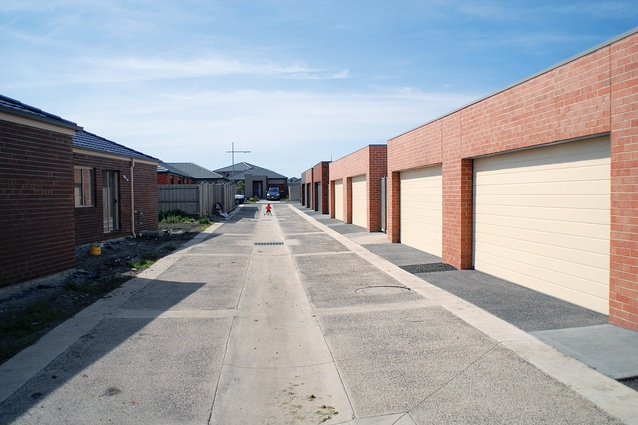 Urban laneways successfully encourage car parking at the rear of dwellings.