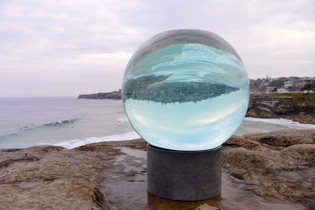 <em>Horizon</em> the finished installation at Sculpture by the Sea 2013: Lucy Humphrey.