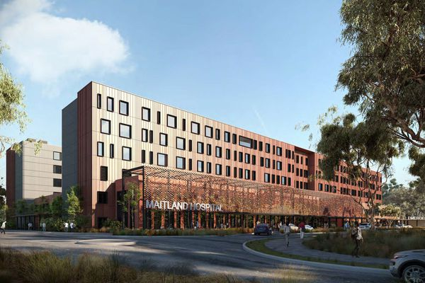 The proposed Maitland Hospital by BVN.
