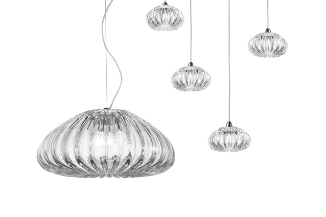 Vistosi Diamante lead-free crystal pendant.