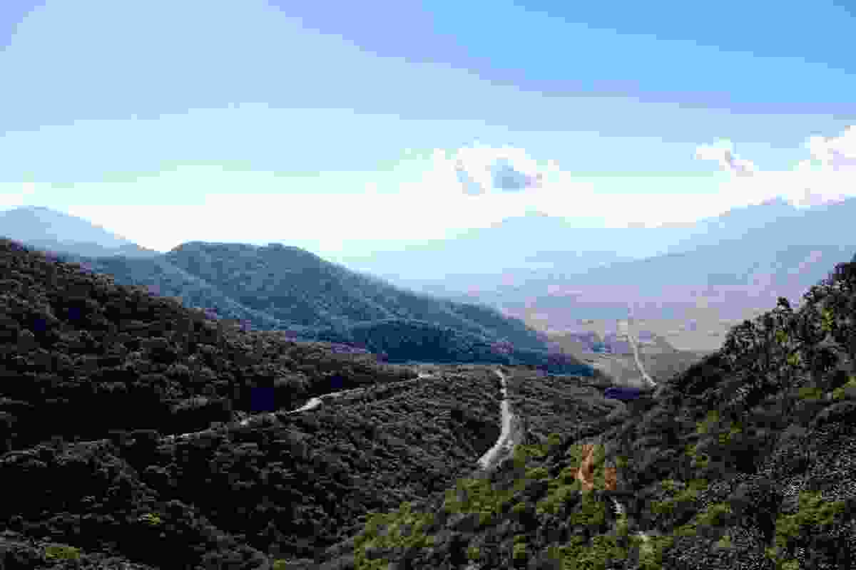 Changing terrain along the Ruta del Peregrino.