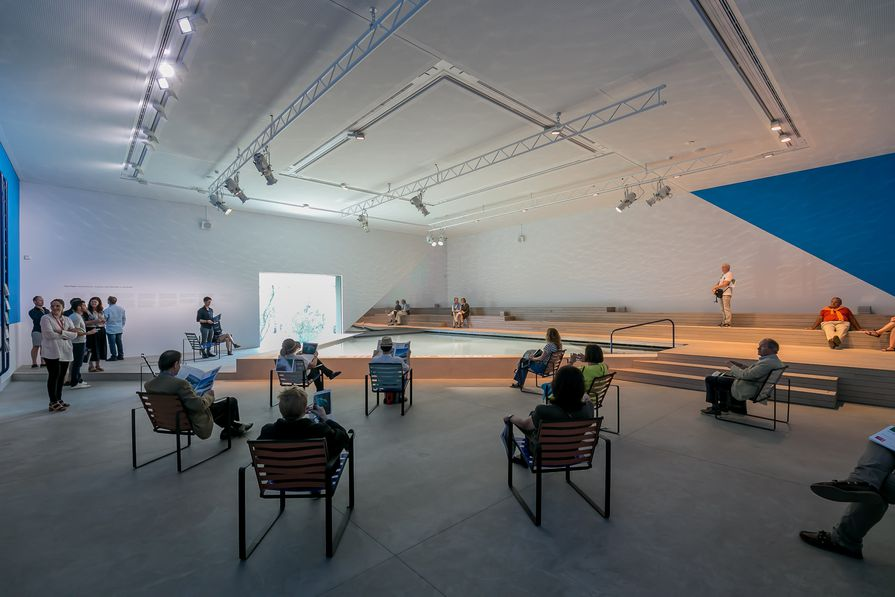 The Pool: Architecture, Culture and Identity, exhibition by Aileen Sage Architects (Isabelle Toland and Amelia Holliday) with Michelle Tabet, commissioned for the Australian Pavilion by the Australian Institute of Architects.