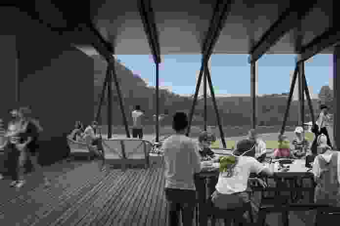 The bridge structure will essentially be a large covered verandah allowing views to the forest and Arthur's Hill.