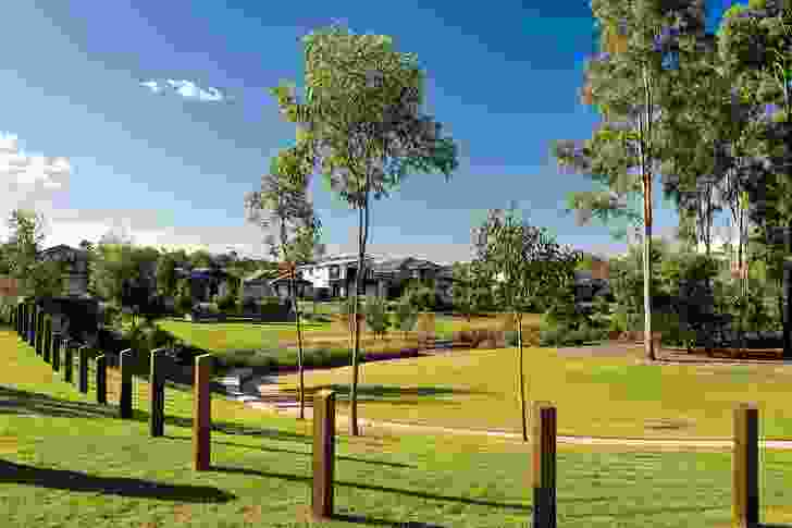Parklands within the Fitzgibbon development feature mature stands of vegetation.