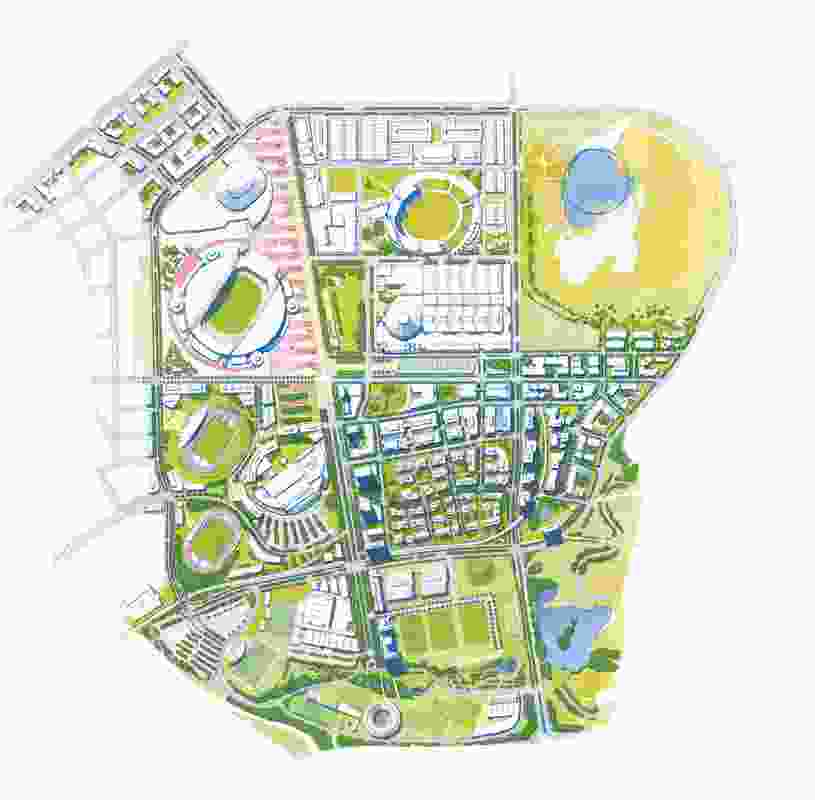 Illustrative plan from the Sydney Olympic Park masterplan 2030.