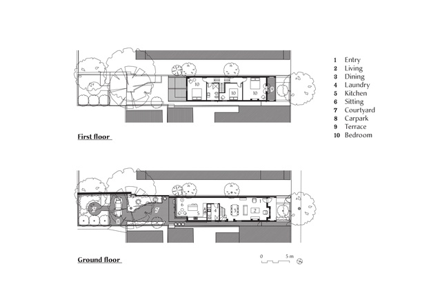 Plans of Hird Behan House by Christopher Polly Architect.