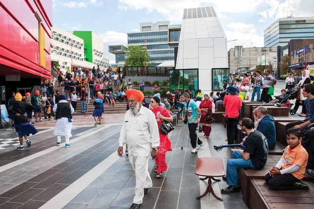 The official opening of the Dandenong Civic Square, April 2014.