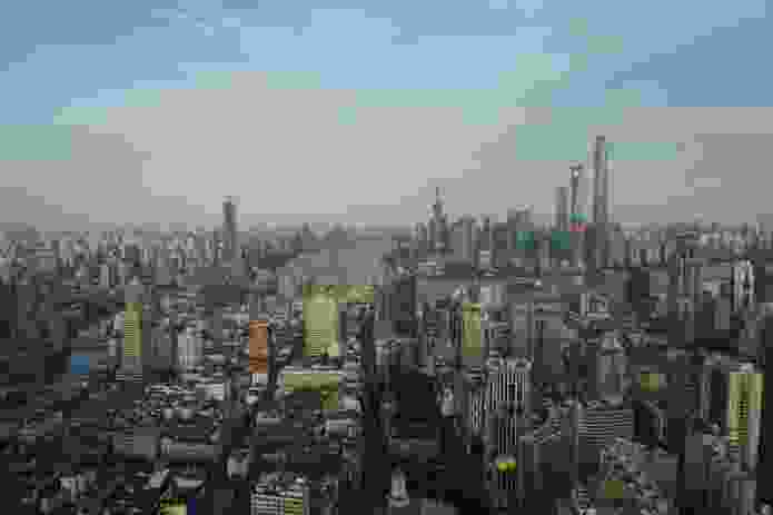 View of Shanghai from the 65th floor of Le Royal Meridien Hotel, Shanghai.
