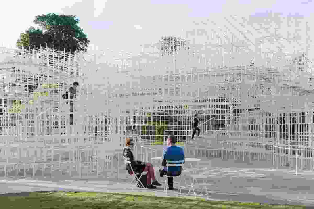 Serpentine Gallery Pavilion 2013, designed by Sou Fujimoto.