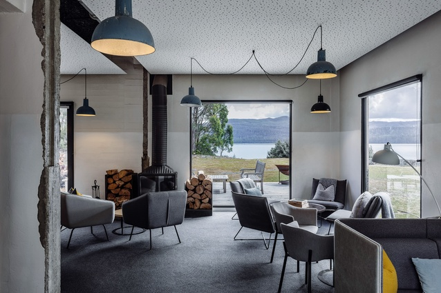 Pumphouse Point Shorehouse Addition by Jaws Interiors and Jaws Architects.