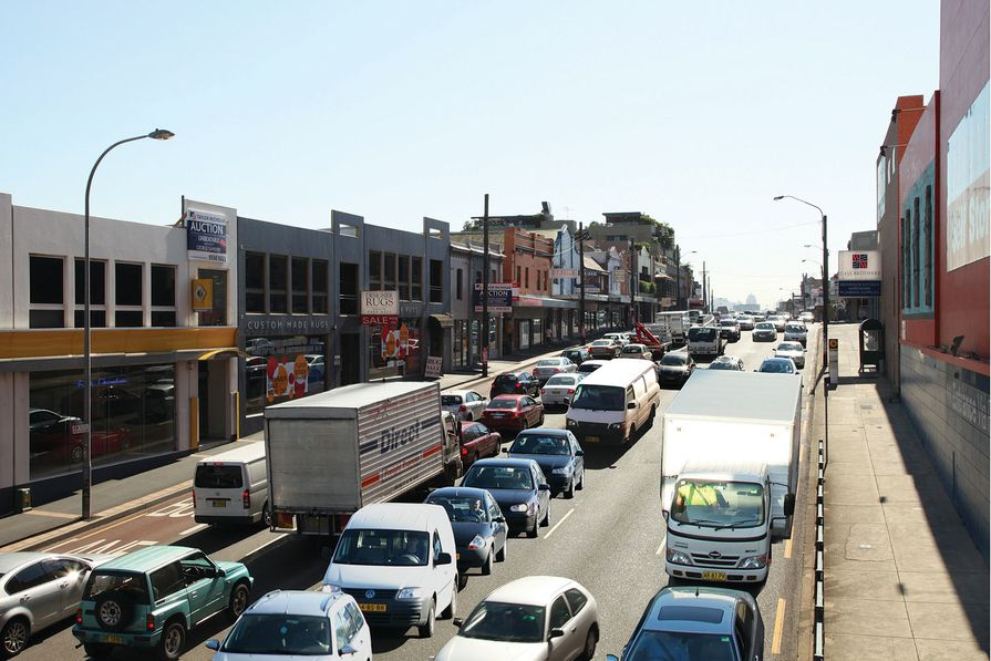 The perpetual gridlock of Parramatta Road as it currently exists.