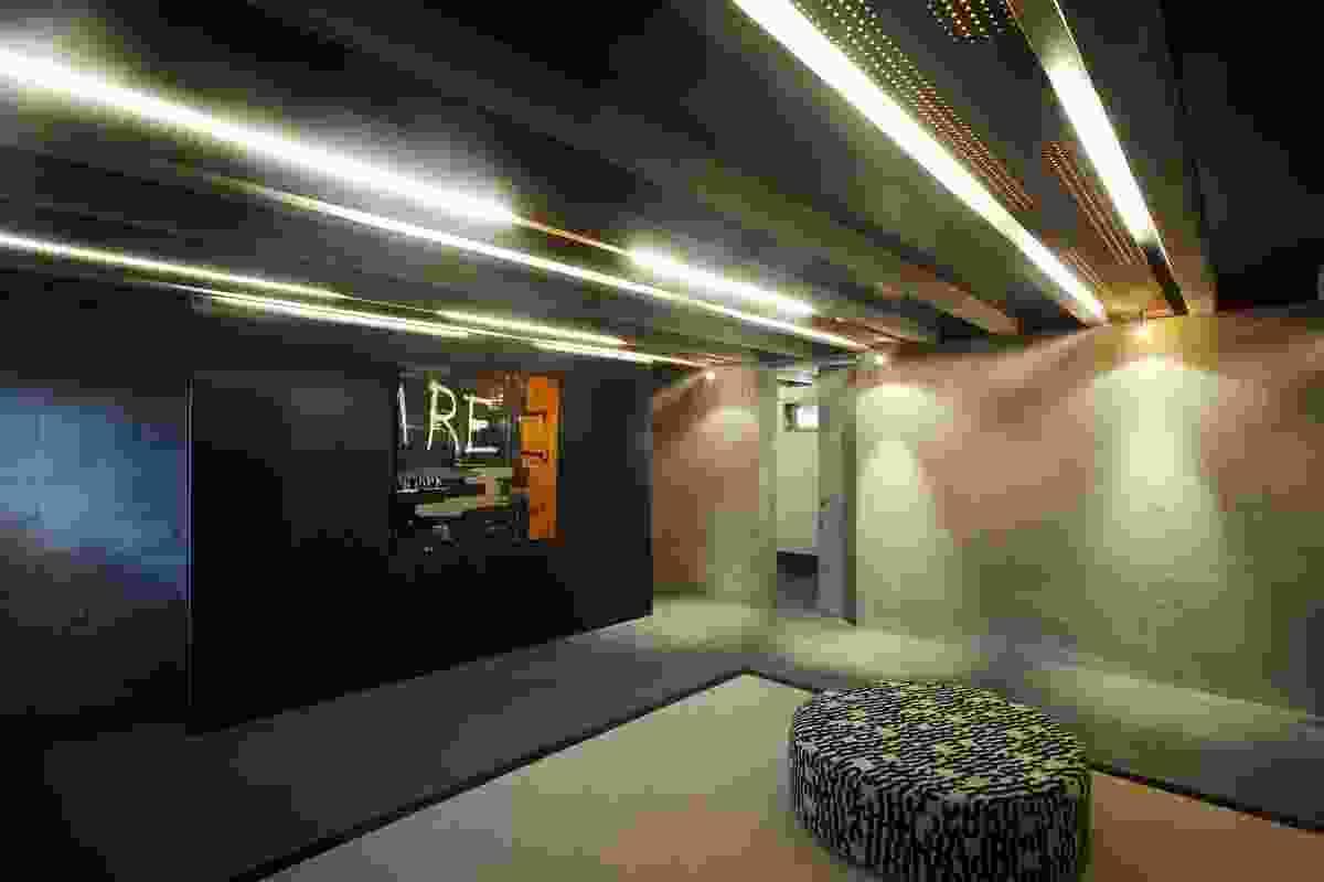 The below ground teenager's bunker.