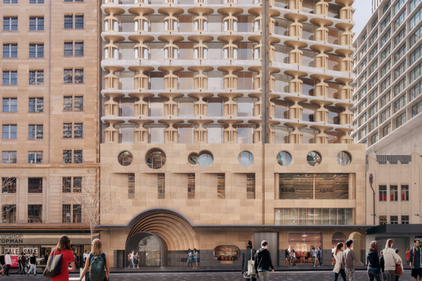 QT Hotel expansion proposal by Candalepas Associates [cropped].