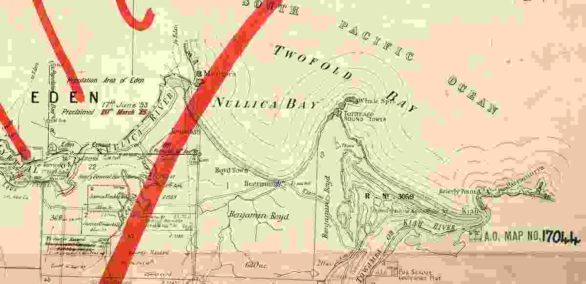 Old parish maps give clues to the old landscape with names and the location of the Bundian Way.