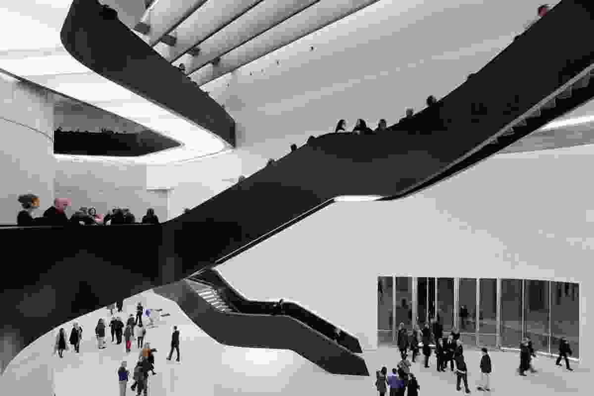 The MAXXI: Italian National Museum of 21st Century Arts in Rome, by Zaha Hadid.