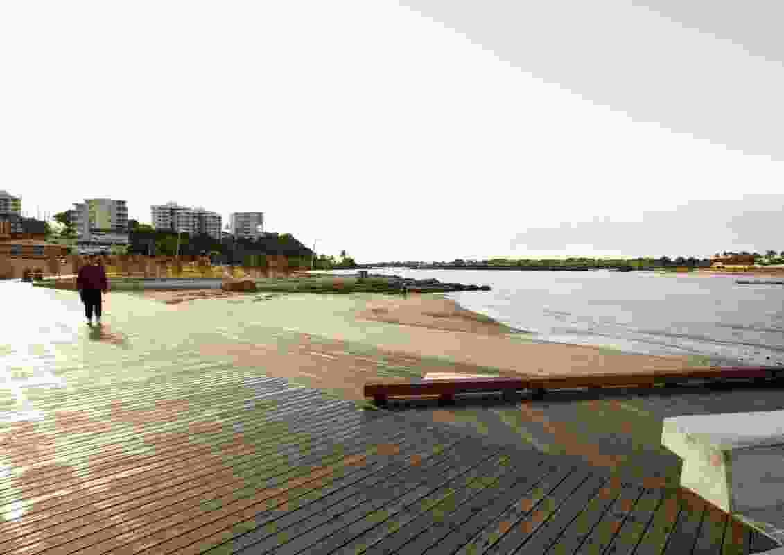 Beach Deck and New Beach.