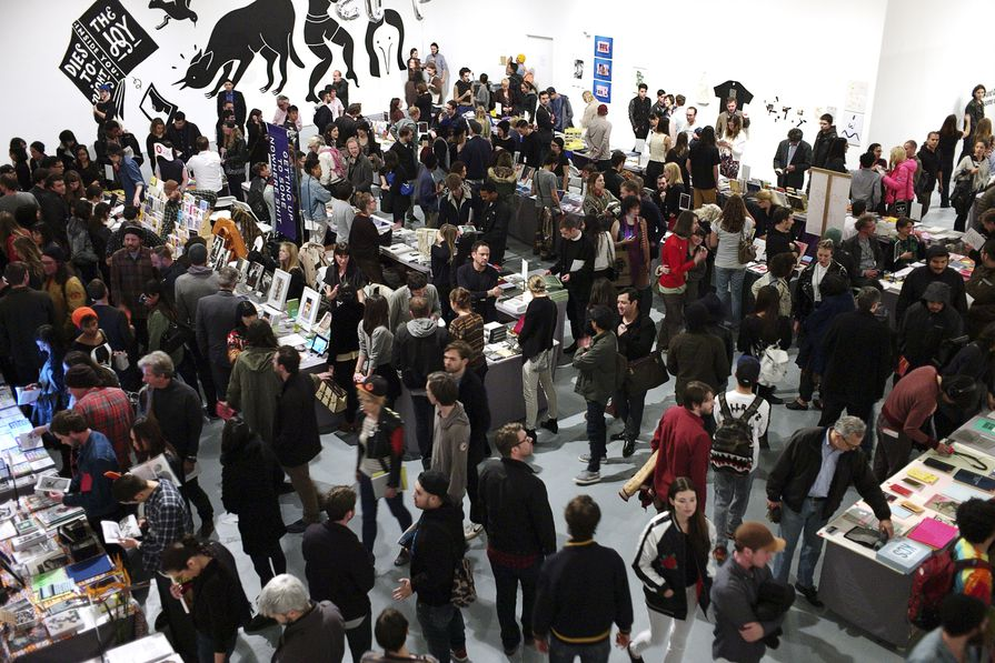 Crowds enjoying the 2014 LA Art Book Fair.