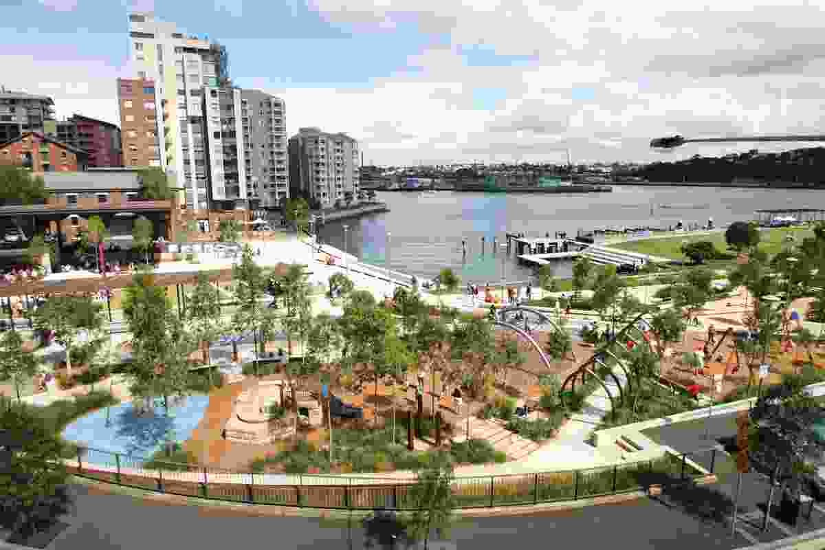 Pirrama Park by Fiona Robbé Landscape Architects in collaboration with Aspect Studios.