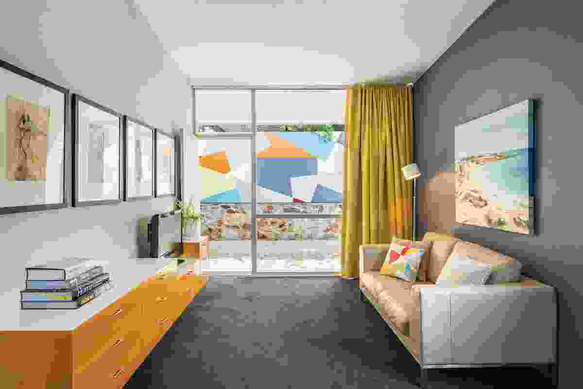 The incorporation of an additional bedroom and bathroom has liberated the original main bedroom for a rumpus/sitting room.  All artworks: Nicole Le Leu.