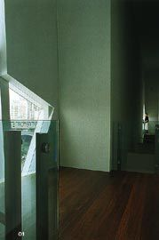 """Looking along the spaces in the """"thickened wall"""" of south facade.Image: Trevor Mein."""
