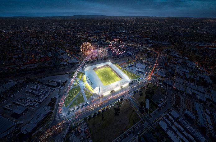 Cox Designs Concept For 15 000 Seat Stadium For Melbourne S