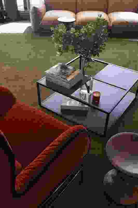 The design team chose signature furniture pieces for the reception area.