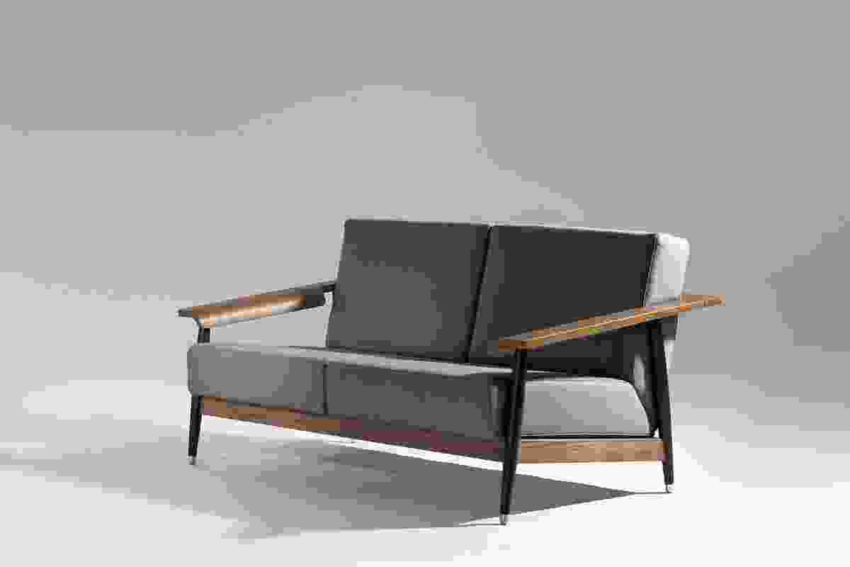 The design of the Dowel sofa was inspired by Eames, Gio Ponti and Shaker furniture.