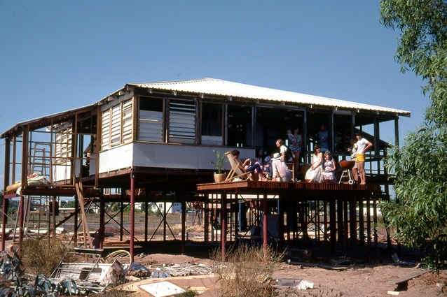 Troppo House under reconstruction, Coconut Grove, Darwin NT (1981) by Troppo Architects.