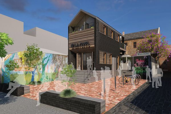 Illustrative design of the La Mama rebuild by Meg White. Render by Cottee Parker Architects.