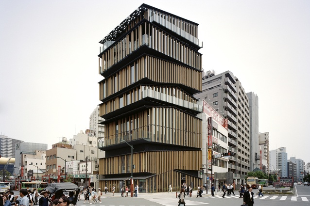 Asakusa Culture and Tourism Center in Tokyo, Japan by Kengo Kuma and Associates (2012).