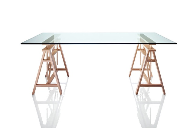 Teatro table by Marc Berthier re-released by Magis.