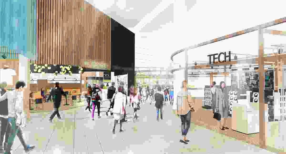 The proposed Gold Coast Airport expansion designed by Hassell will deliver additional retail spaces.