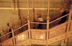 Participants descending the stair of the Société Générale Building.Image: Jody Pachniuk