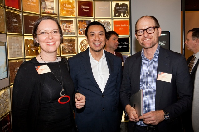 Design Speaks: Workplace/Worklife 2013 delegates (L–R): Kate Tregloan (Monash University), Paolo Chung (DesignInc) and Gary Anderson (ISIS).