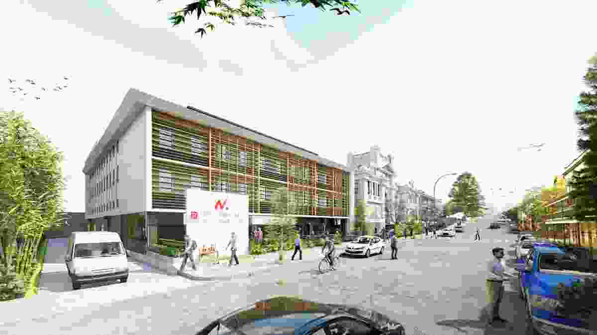 The proposed western building will house 109 beds for Japanese exchange students.